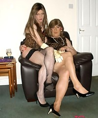 Crossdressing slut and Tgirl kirsty sucking and fucking